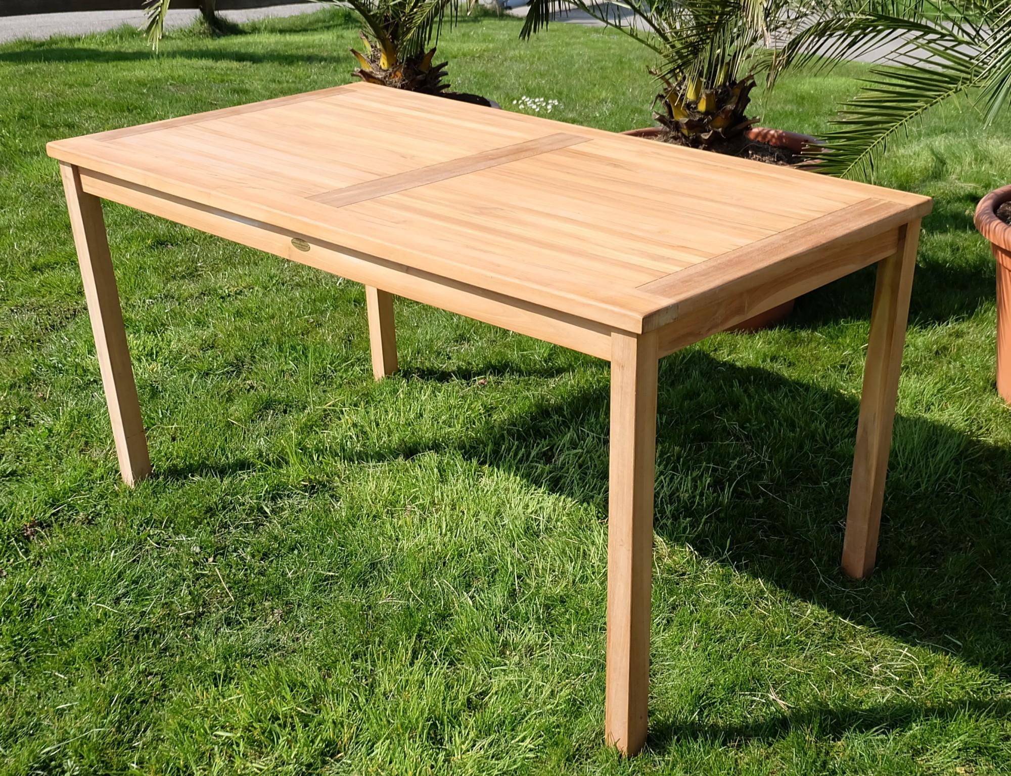 Gartentisch Holz Kaufen Runder Stabiler Holz Gartentisch Braun