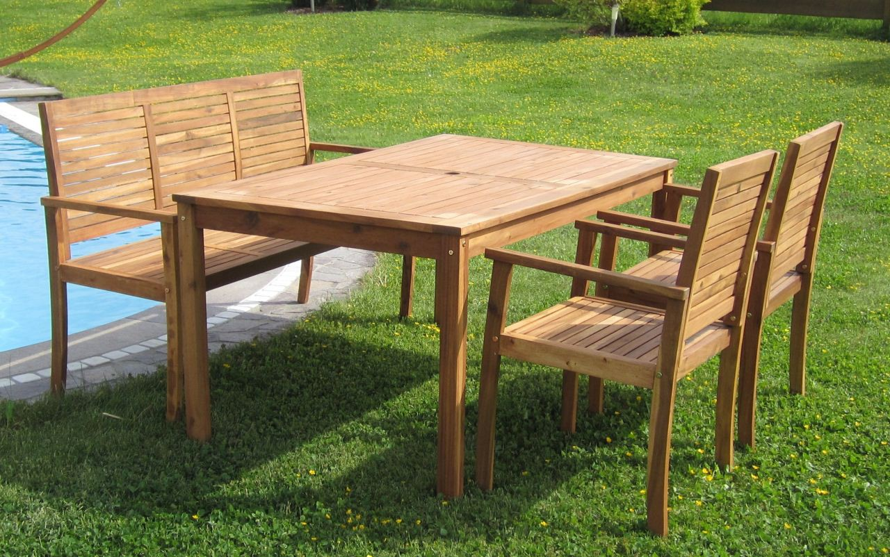 gartengarnitur gartenset gartenm bel sitzgruppe saria holz akazie wie teak ebay. Black Bedroom Furniture Sets. Home Design Ideas