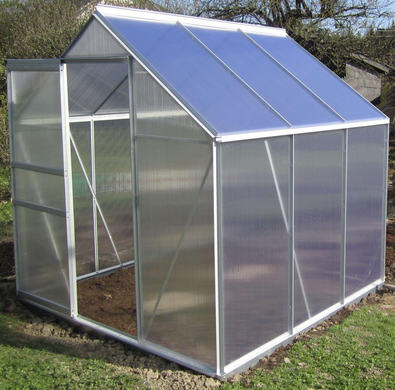 alu gew chshaus tomatenhaus glashaus 6mm stegplatten. Black Bedroom Furniture Sets. Home Design Ideas