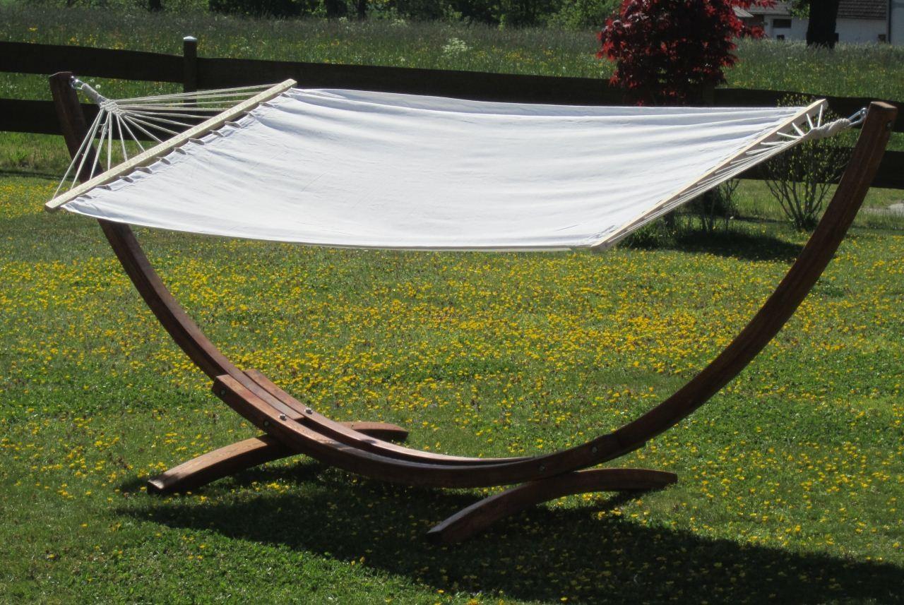 h ngemattengestell gestell mit h ngematte 320cm aus holz. Black Bedroom Furniture Sets. Home Design Ideas