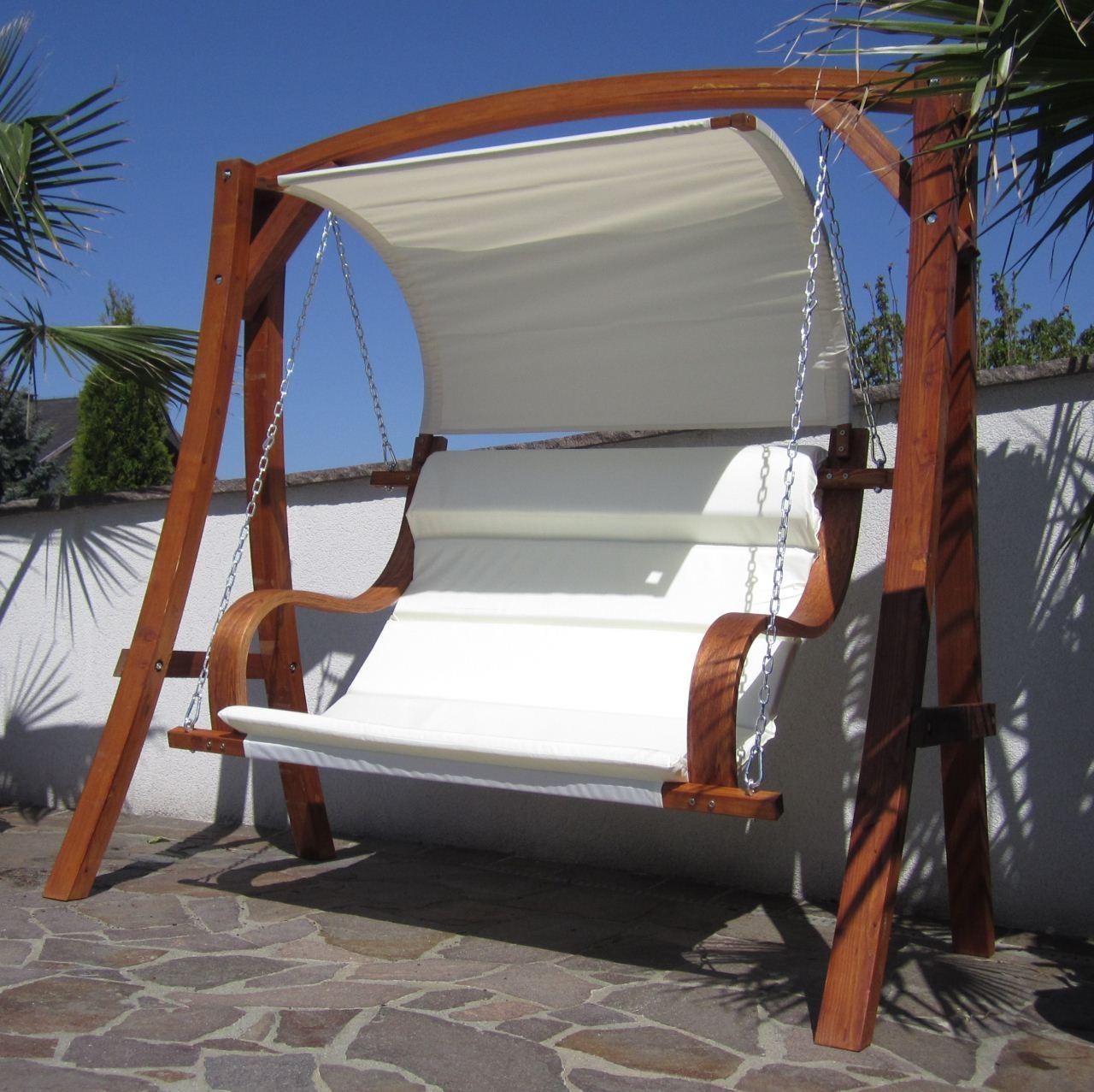 design hollywoodschaukel aus holz l rche model meru hm101. Black Bedroom Furniture Sets. Home Design Ideas