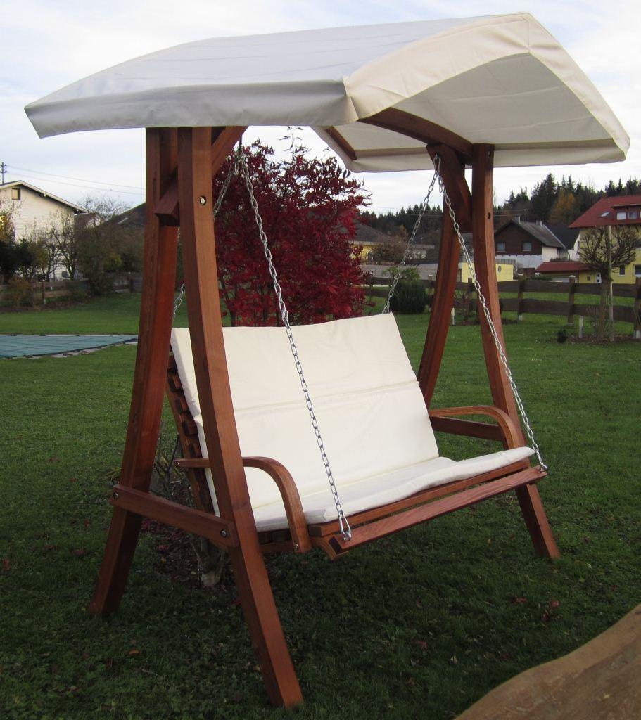 Hollywoodschaukel Holz Mit Bettfunktion ~ Design Hollywoodschaukel Gartenschaukel Hollywood Schaukel aus Holz