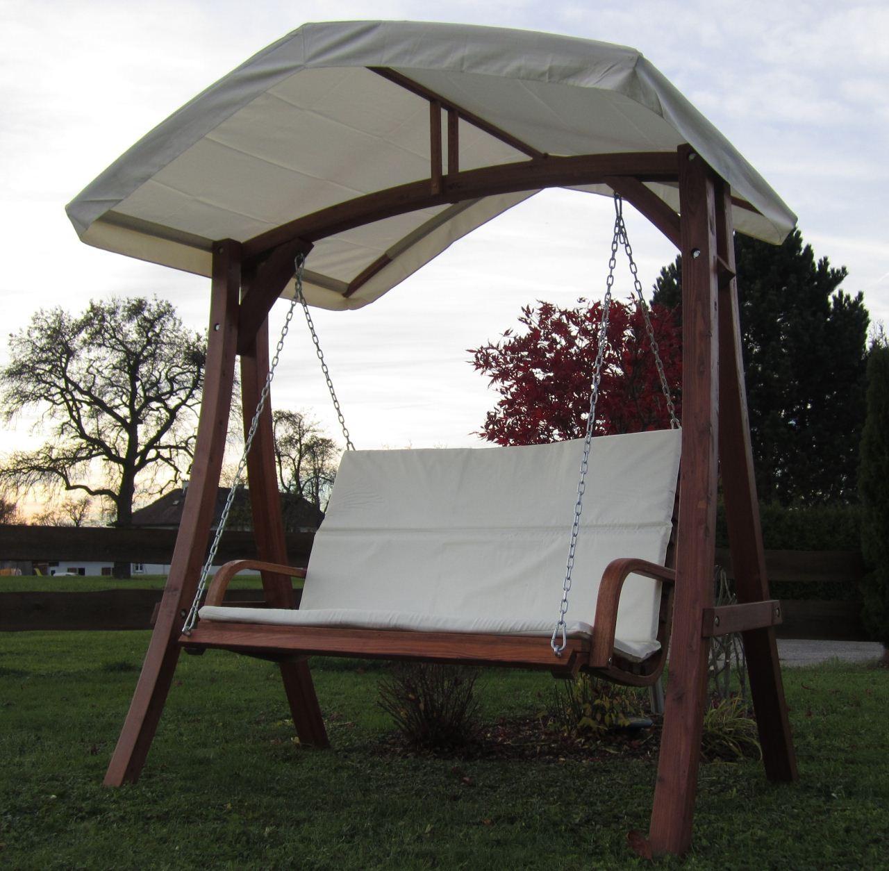 design hollywoodschaukel holz geolt. Black Bedroom Furniture Sets. Home Design Ideas