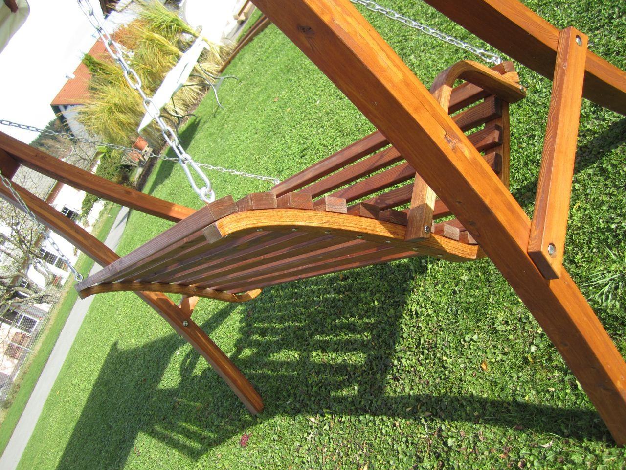 Hollywoodschaukel Holz Mit Dach ~   Schaukel aus Holz Lärche mit Dach Modell  KUREDO 103  – Bild 7