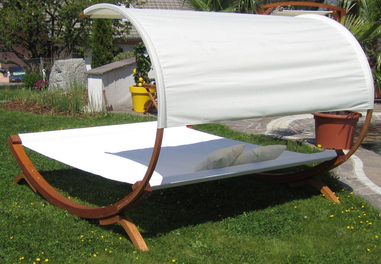 xxl sonnenliege doppelliege gartenliege h ngematte doppel liege gartenm bel saon ebay. Black Bedroom Furniture Sets. Home Design Ideas