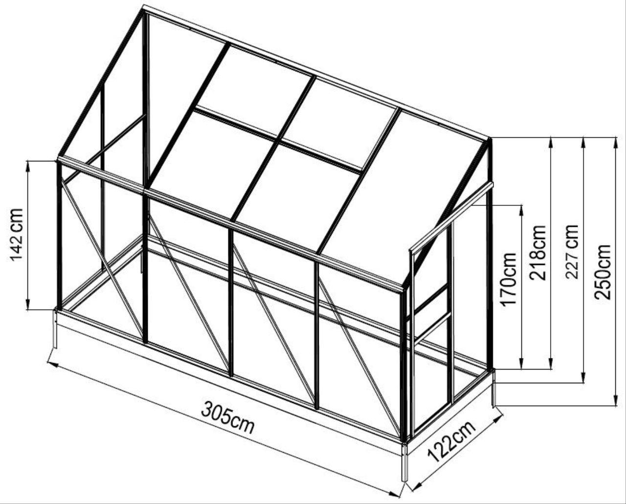 3 72m profi anlehn gew chshaus anlehngew chshaus. Black Bedroom Furniture Sets. Home Design Ideas