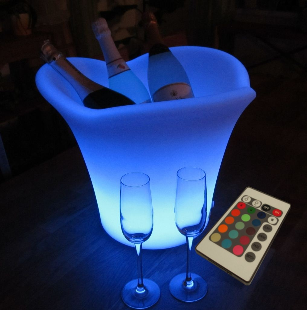 xxl led rgb sektk hler champagnerk hler flaschenk hler sektk bel 42cm m fernbed ebay. Black Bedroom Furniture Sets. Home Design Ideas