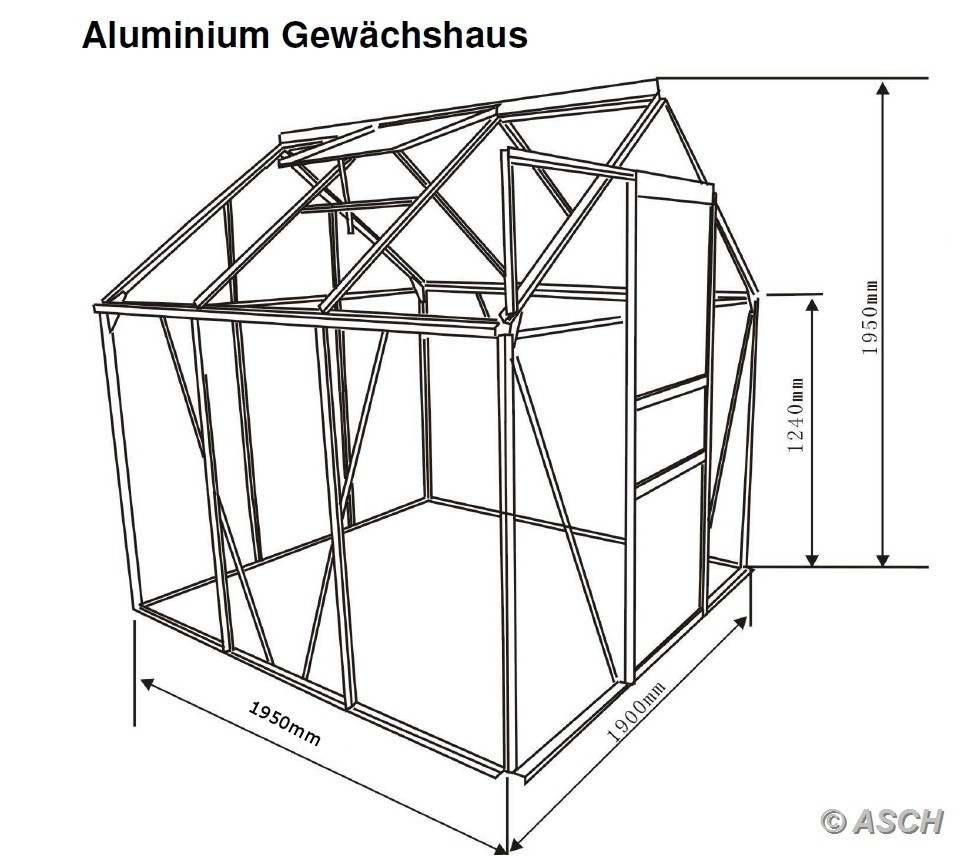 3 7m alu gew chshaus tomatenhaus glashaus 6mm stegplatten inkl stahlfundament ebay. Black Bedroom Furniture Sets. Home Design Ideas