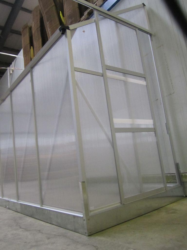 2 23m profi anlehn gew chshaus anlehngew chshaus glashaus 6mm fenster ffner ebay. Black Bedroom Furniture Sets. Home Design Ideas