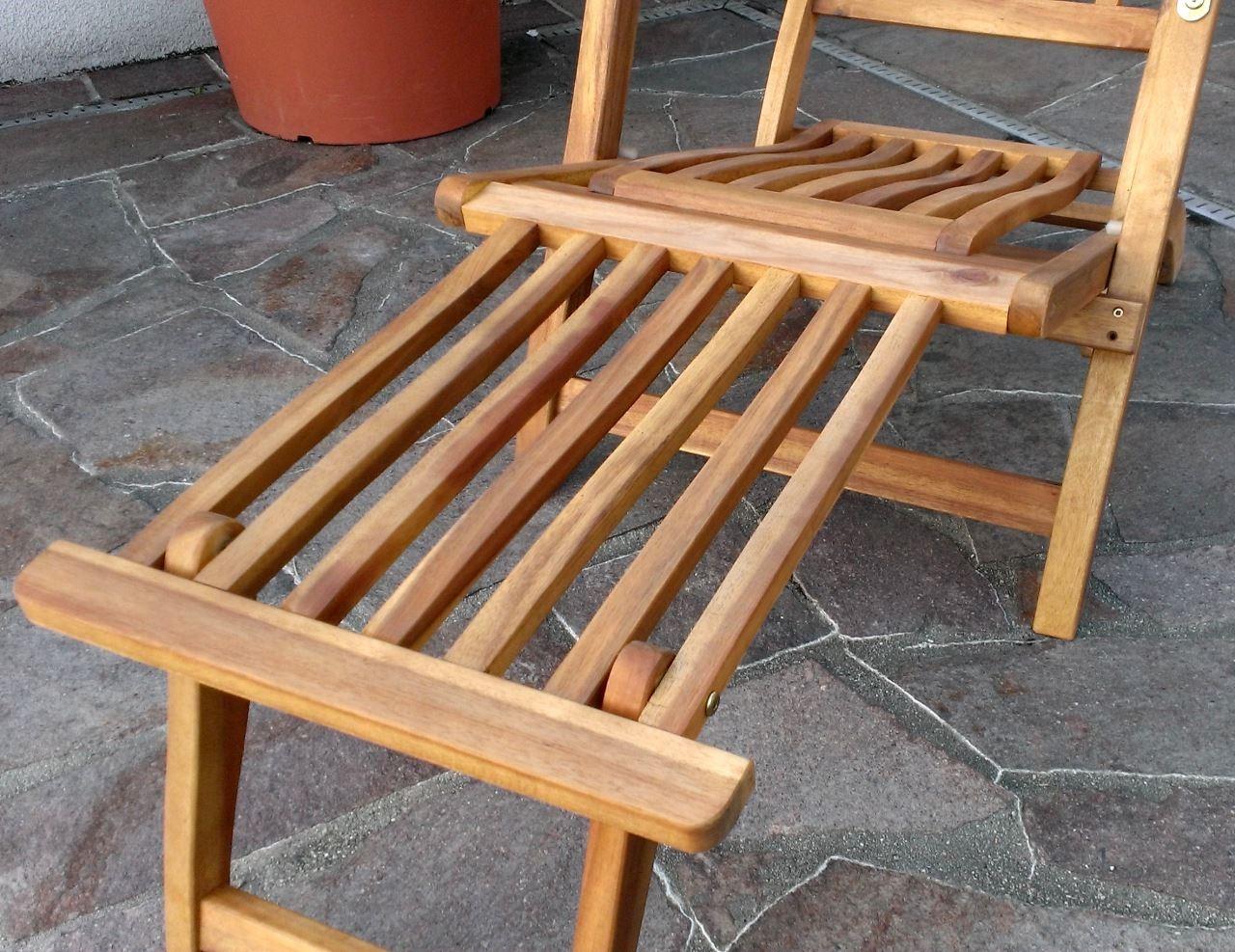 steamer deckchair liegestuhl sonnenliege klappsessel rc10 holz akazie wie teak ebay. Black Bedroom Furniture Sets. Home Design Ideas