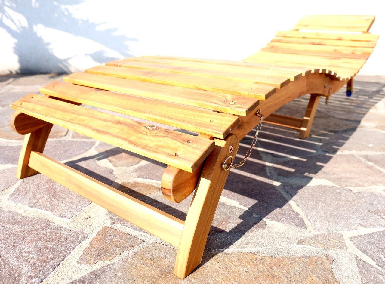 sonnenliege gartenliege strandliege liegestuhl liege limon holz akazie wie teak ebay. Black Bedroom Furniture Sets. Home Design Ideas