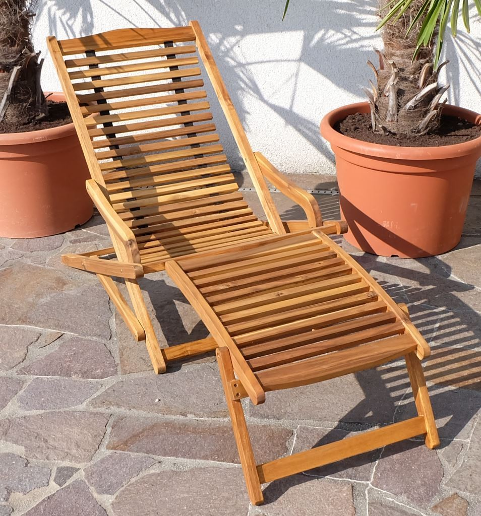 relax sessel sonnenliege liegestuhl klappsessel deckchair holz akazie wie teak ebay. Black Bedroom Furniture Sets. Home Design Ideas