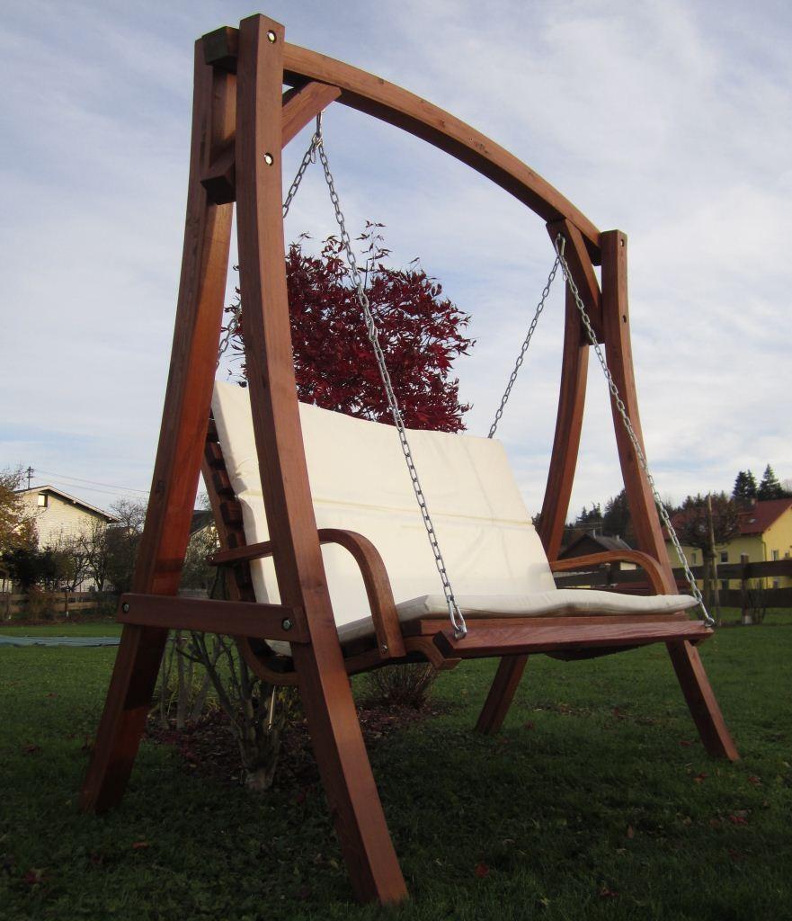 Hollywoodschaukel design  Design Hollywoodschaukel aus Holz Lärche Model KUREDO | eBay