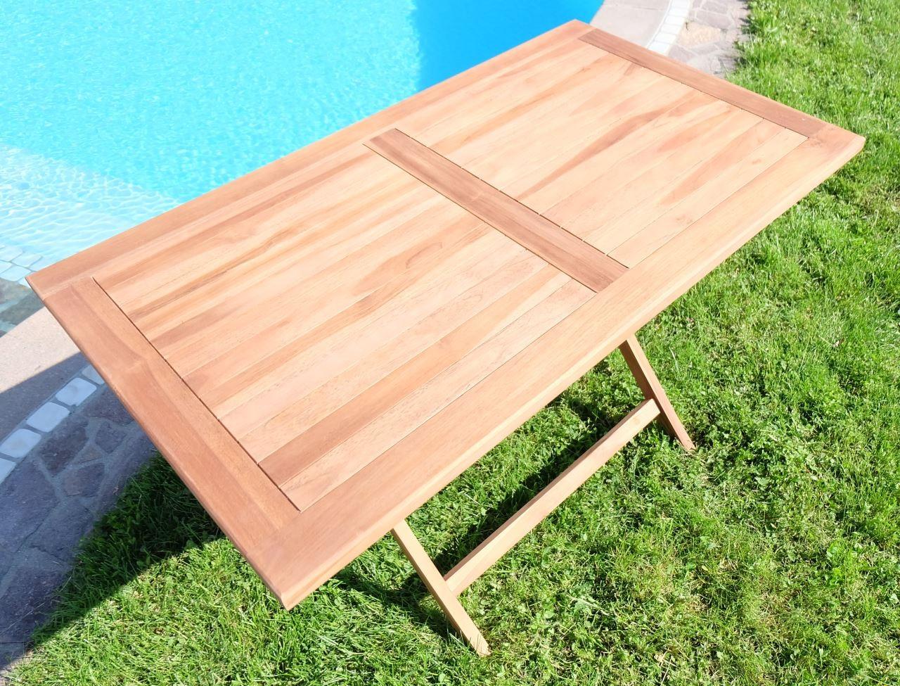 Hollywoodschaukel Holz Billig ~   Holztisch Gartentisch Garten Tisch 120x70cm  AVES  Holz geölt 008