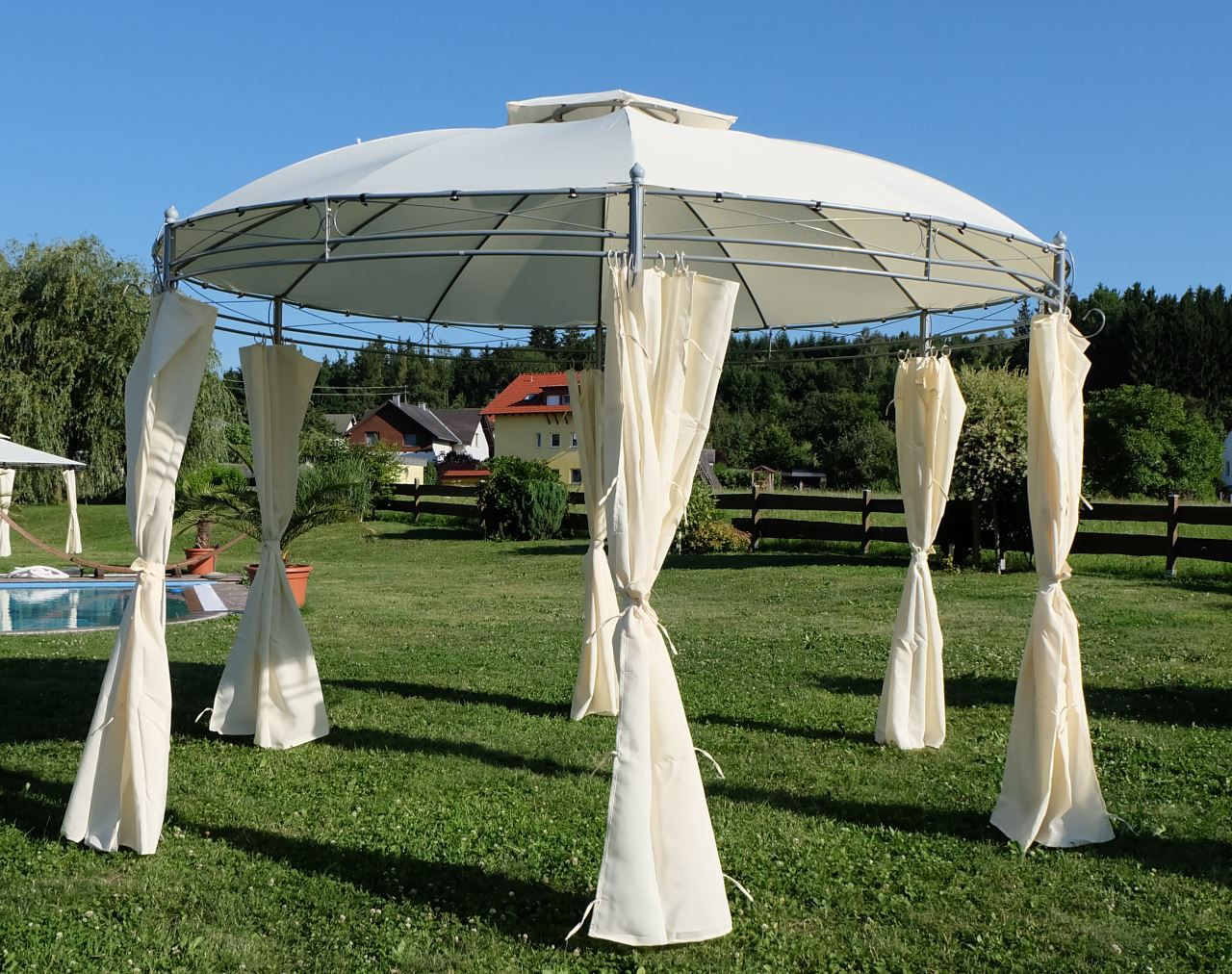 eleganter garten pavillon gartenpavillon 3 5 mt m. Black Bedroom Furniture Sets. Home Design Ideas