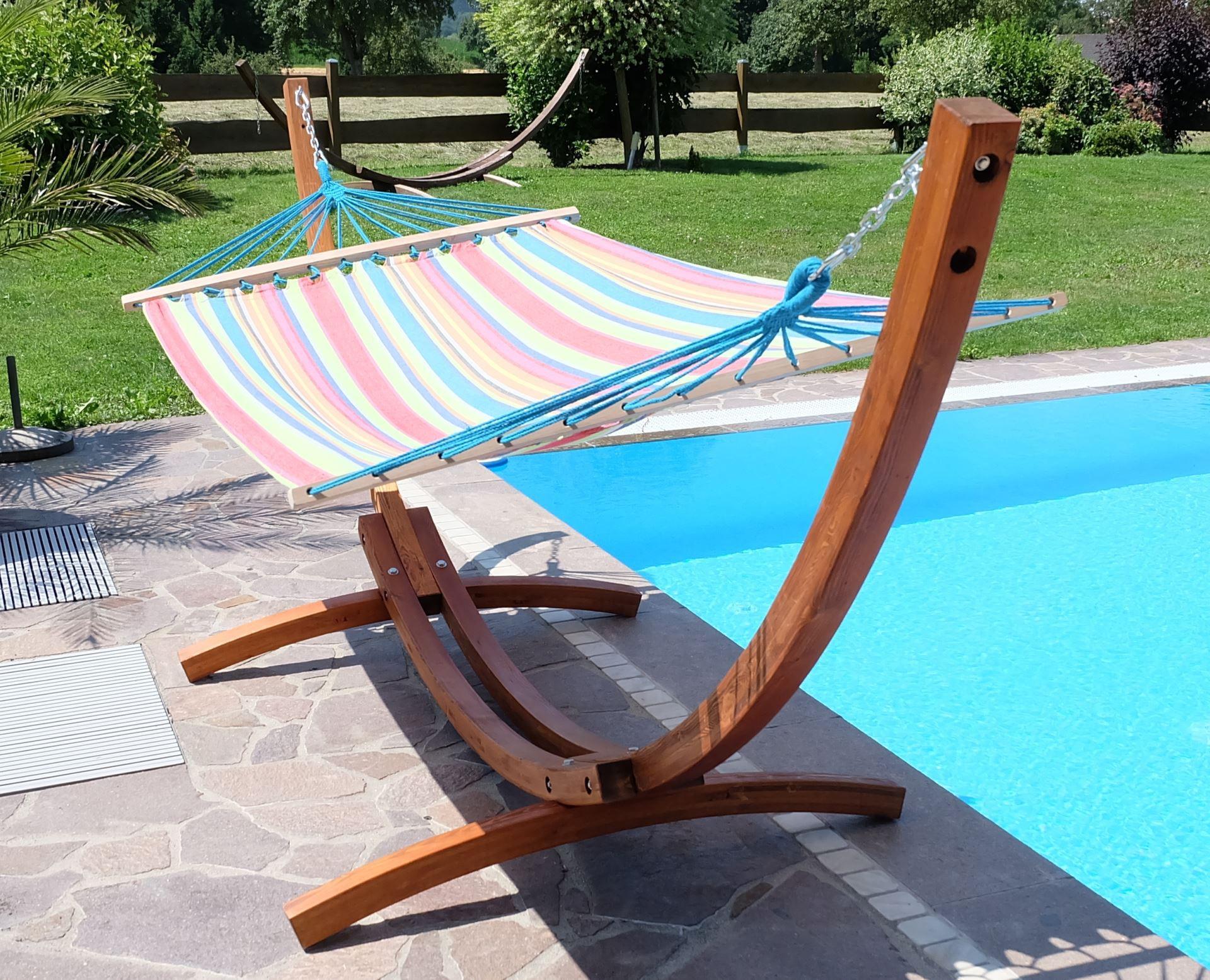h ngematte mit gestell h ngemattengestell alicia 3 5m holz. Black Bedroom Furniture Sets. Home Design Ideas