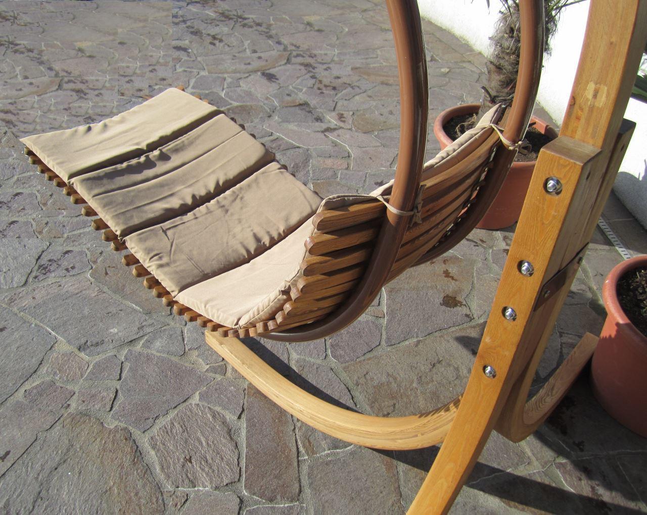 DESIGN Hängesesselgestell NAVASSA aus Holz Lärche komplett ...