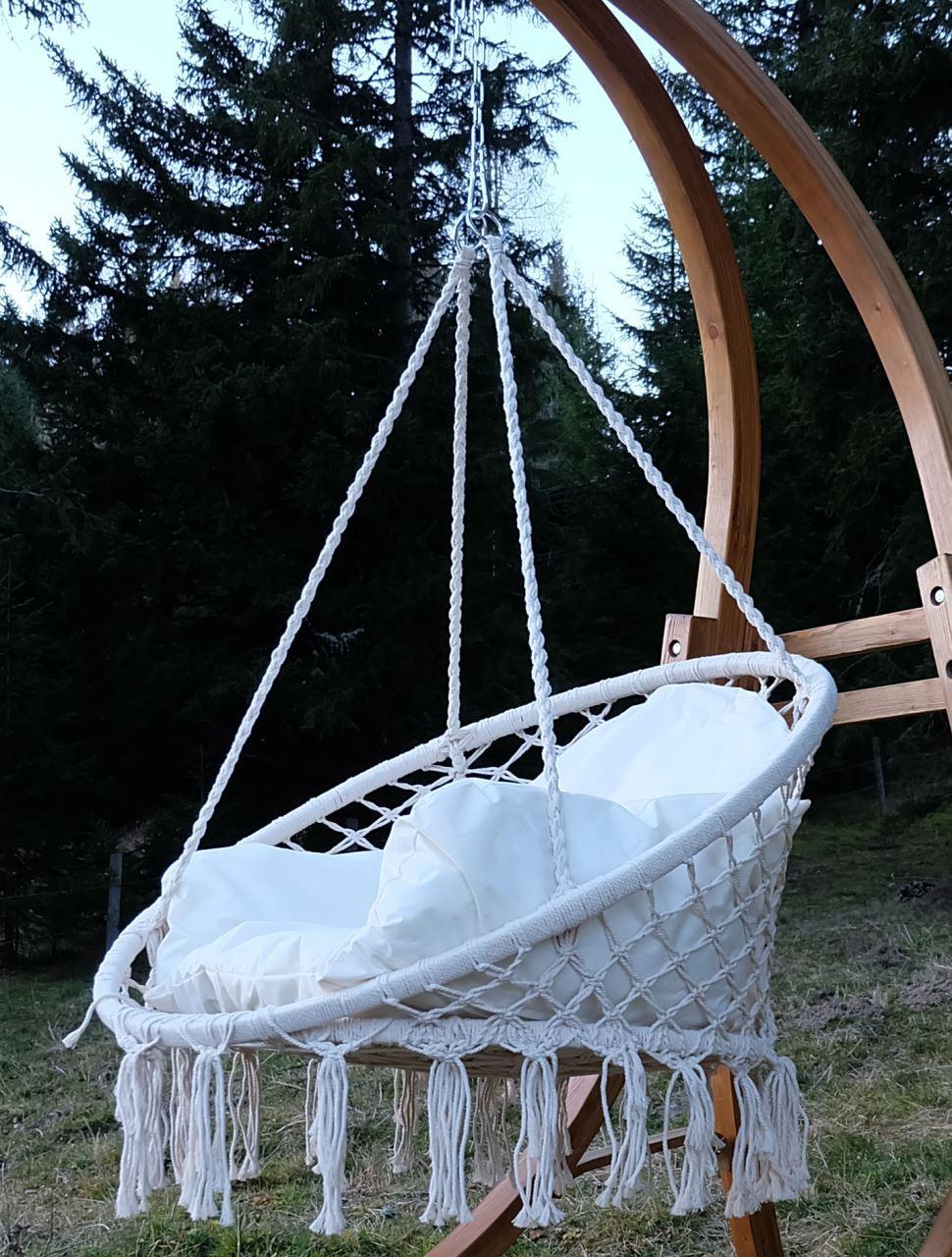 design h ngesessel catalina mit kissen ohne holzgestell alles f r garten und terasse. Black Bedroom Furniture Sets. Home Design Ideas