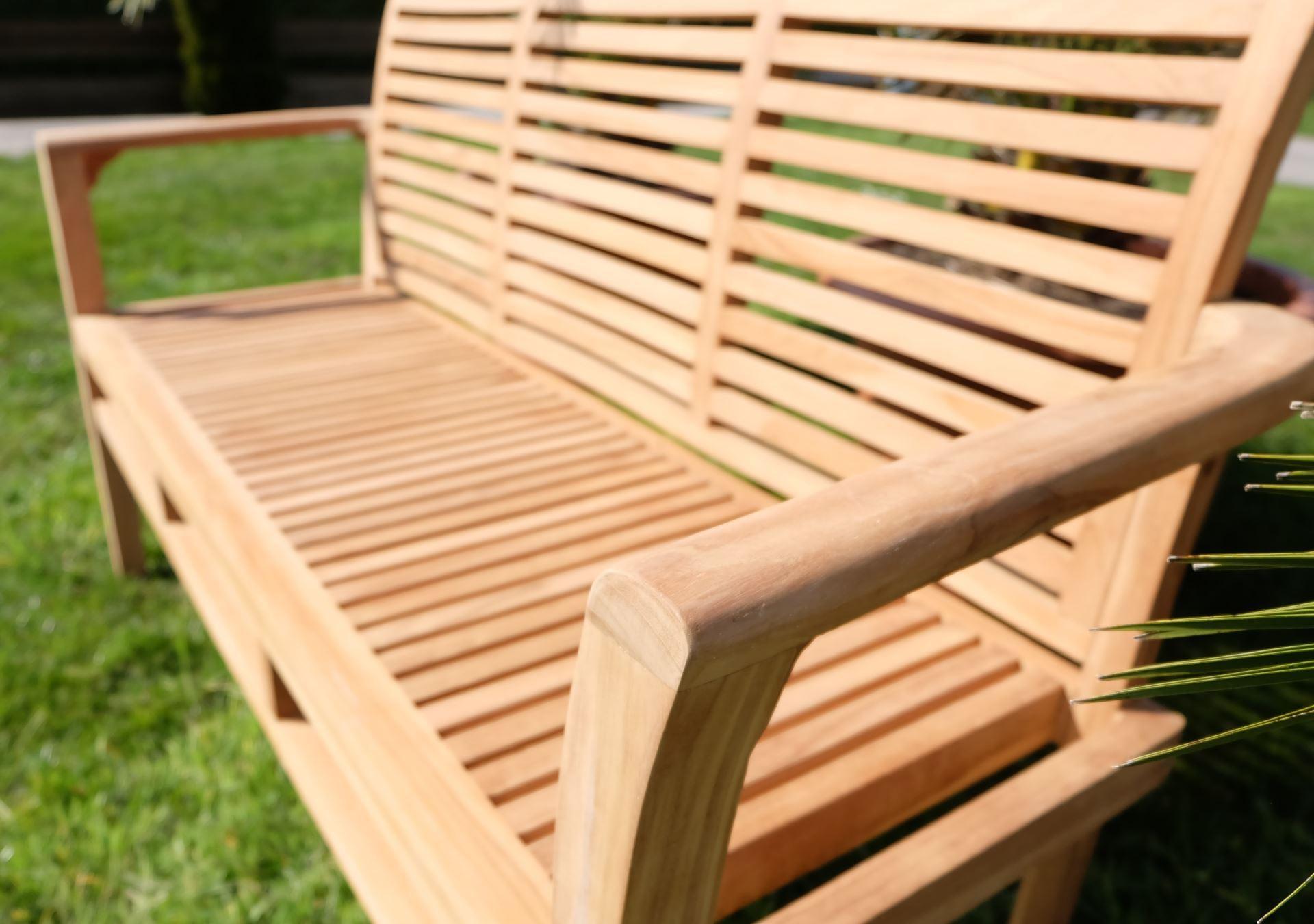 teak 3 sitzer gartenbank alpen alles f r garten und terasse gartenm bel b nke. Black Bedroom Furniture Sets. Home Design Ideas