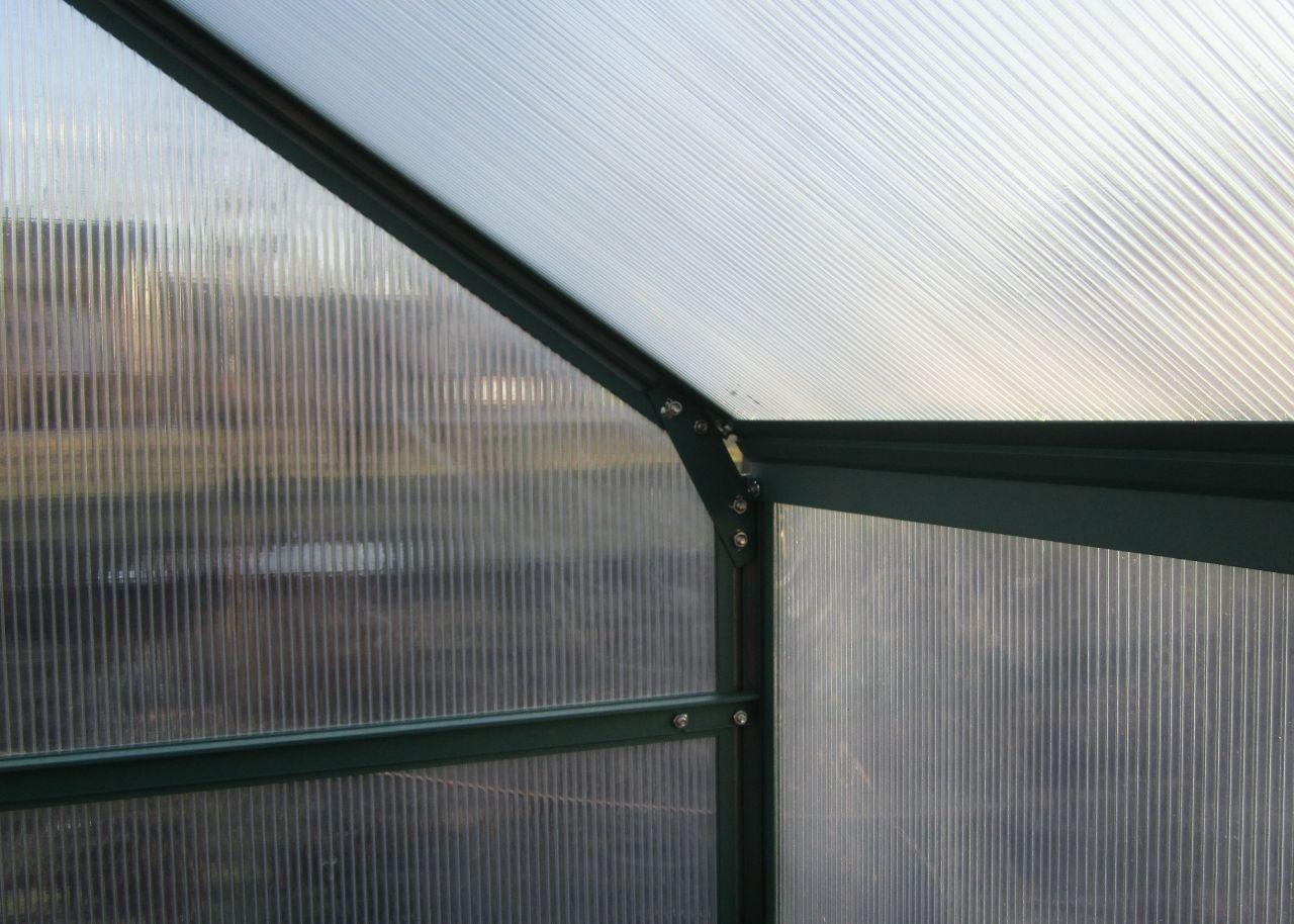 komplettset 10 4m profi alu gew chshaus glashaus treibhaus inkl stahlfundament u 4 fenster. Black Bedroom Furniture Sets. Home Design Ideas