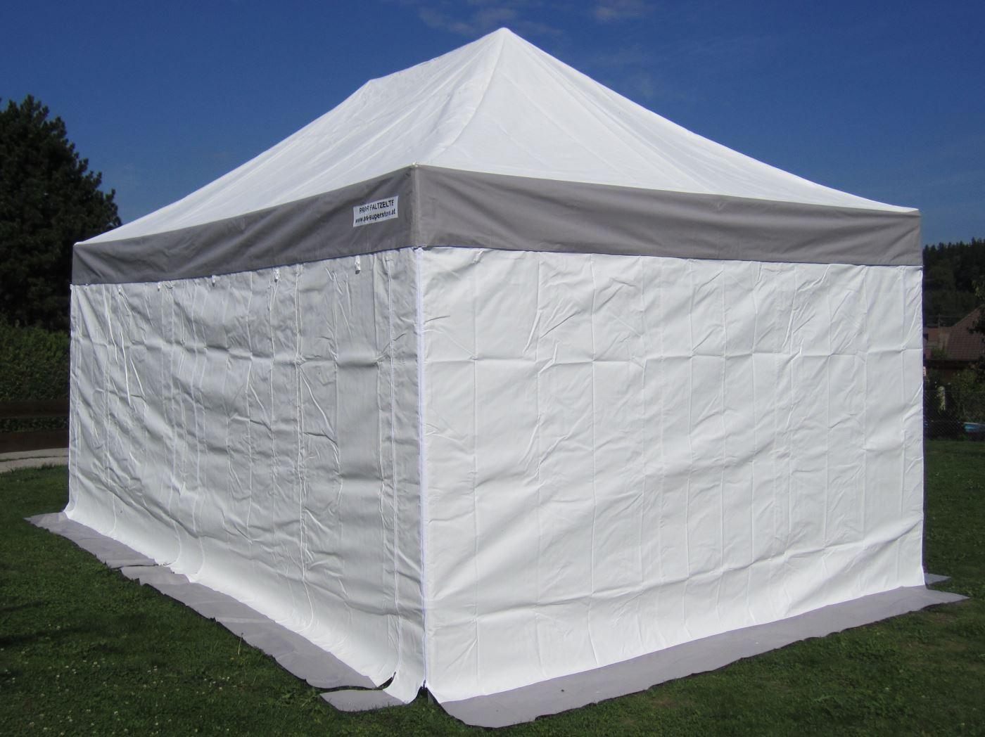 3x4 5m profi faltzelt marktzelt marktstand tent 50mm hex mit metallgelenken u pvc planen. Black Bedroom Furniture Sets. Home Design Ideas